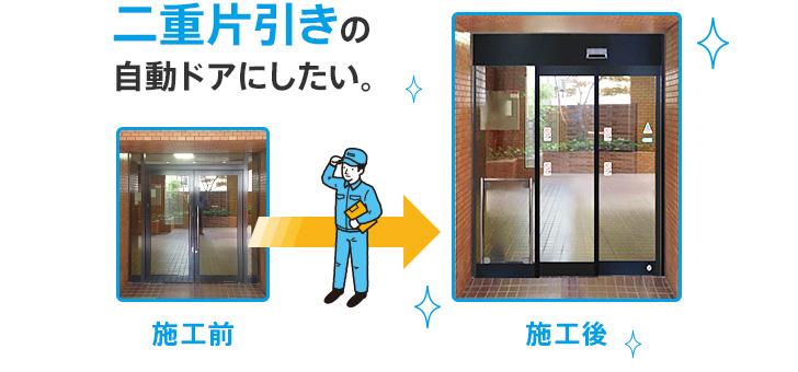 ビフォーアフター 施工事例 自動ドアのナブコドア株式会社
